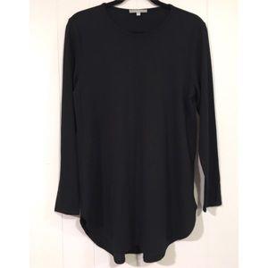 Joan Vass New York black tunic top